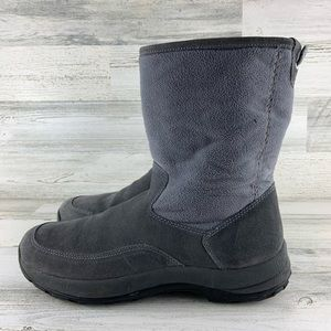 L.L. BEAN Grey Suede Boots Size 11